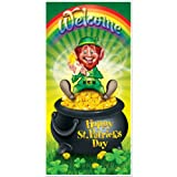 Beistle 30011 Leprechaun Door Cover, 30-Inch by 5-Feet