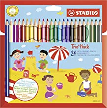 Stabilo Trio thick Multi 24pieza(s) laápiz de color - Lápiz de color (24 pieza(s), Fijo, Multi, Niño, Niño/niña, Madera)