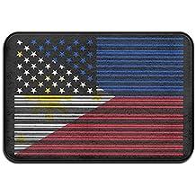 Bar Coded USA Philippines Flag Antislip Car Floor Mat Kitchen Rug