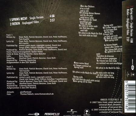 Tokio Hotel Spring Nicht Pt1 Amazoncom Music