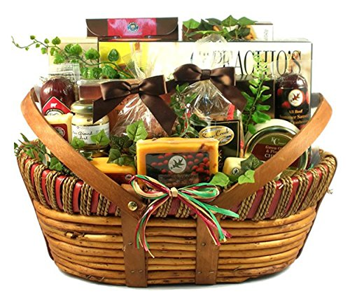 Meat and Cheese Fathers Day Gift Basket | Size Large (Get Well Baskets For Guys)