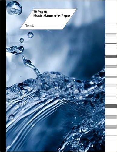 Foro de descarga de libros electrónicos en pdf Music Manuscript Paper (Staff Paper) 70 Pages, 12 Staves. Aqua Splash PDF PDB
