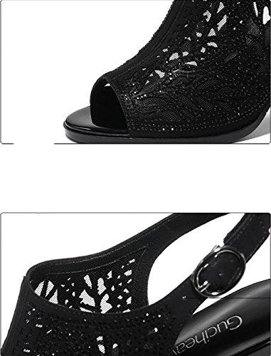 FAFZ nbsp; de poissons chaussons sandales femme bouche chaussures sandales Couleur plates été dames sauvages mode coréens A chaussures 40 Roman Sandales hauts Sandales B talons taille wHxRTrEw