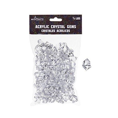 mini glass gems clear - 6