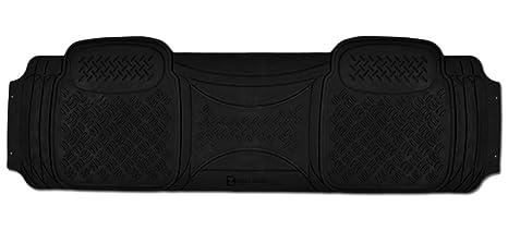 Zento Deals 1 Piece Car Diamond Black Floor Mat Universal Fit Heavy Duty Rubber Runner Vehicle Floor Mat