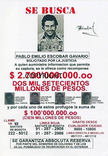 Pablo Escobar fotografia firmato edizione limitata + stampato Autograph THEPRINTSHOP