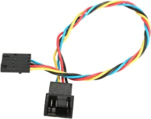 5Pcs 5Pin to 4Pin Fan Connector Adapter Extension Cable,5Pin to 4Pin Cooling Fan Power Cable Compatible with DELL PC