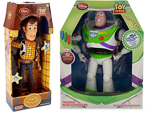 Toy Story 12-Inch Talking Buzz Lightyear and 16-Inch Talking Woody Figures for $<!--$99.50-->