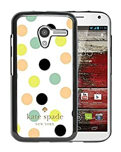 Fashionable And Unique Kate Spade Cover Case For Motorola Moto X Black Phone Case 176