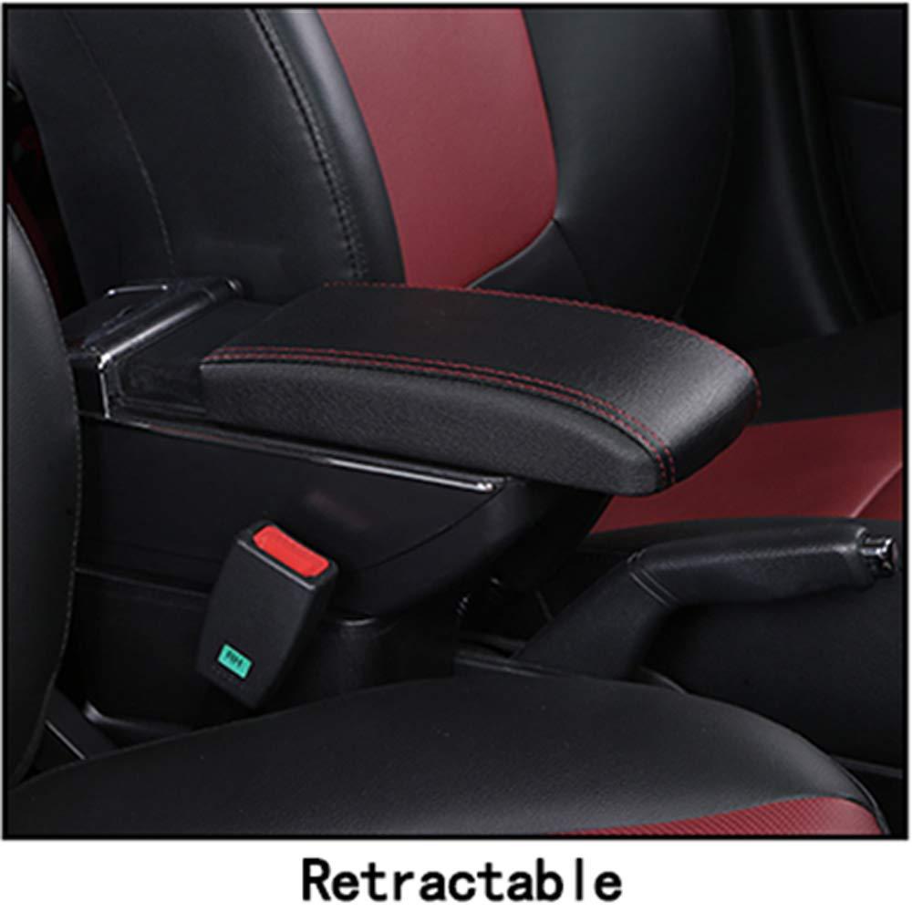 Oneuda Armrest Box for 2014-2018 Suzuki Vitara 2 Retractable, No USB Socket Universal Armrest Retractable Centre Console Storage Box Car Accessories