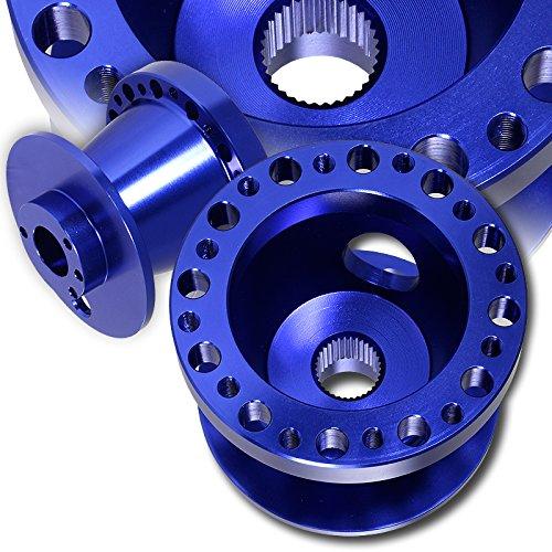 T6061 Blue Aluminum Steering Wheel 6-Hole HUB Adapter For Honda Accord Civic S2000 Prelude Acura TL ()