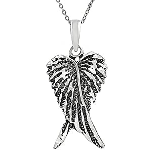 Central World Tressa Sterling Silver Oxidized Angel Wings Necklace