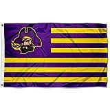 Cheap ECU Pirates Stars and Stripes Nation College Flag