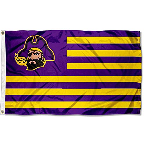 East Carolina Pirates Stars and Stripes Nation Flag