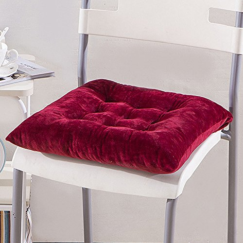 Crystal Velvet Chair Pad Home Kitchen Office Seat Cushion 15.7x15.7inch Square Chair Cushion for Home Furniture & Decor (Velvet Chair Pad)