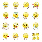 decalmile Emoji Wall Stickers Removable DIY Wall Graphics Decal Murals for Kids Room Window Laptop