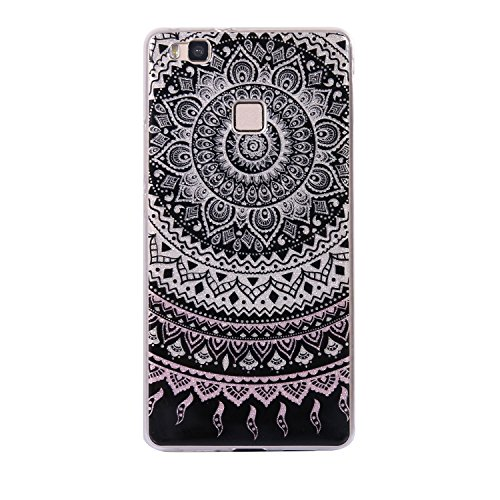 Huawei P9 lite Bling Case, Huawei P9 lite Cover, BONROY® Ultra-Thin Soft Gel TPU Silicone Case For Huawei P9 lite, Luxury Glitter Sparkle Perfect Fit Slim Sturdy Bumper Scratch Resist Protective Clear Mandala