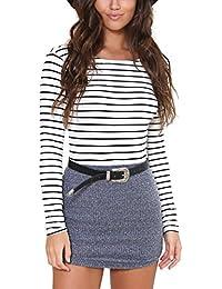 Women's Soft Slim Long Sleeve Bottoming Shirt Blouse Tops 6341