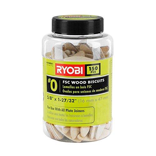Ryobi A05WB01 #00 FSC Wood Biscuits (150-Piece) (00 Plate)