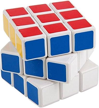 Emob Sticker 3X3X3 High Speed Magic Rubik Cube Puzzle Toy (Multicolor)