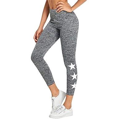 VJGOAL Pantalones de Yoga Estrellas de Color sólido Impreso Empire ...