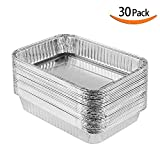 XIAFEI Grills Compatible Drip Pans, Aluminum Foil BBQ Grease Pans, Bulk Package, 30 pack