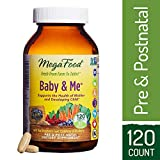 MegaFood - Baby & Me, Prenatal and Postnatal Supplement to Support Healthy Pregnancy, Development, Bones, and Red Blood Cell Levels for Mother and Child, 120 Tablets (FFP)