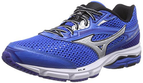 MizunoWave Legend 3 - Zapatillas de Running Hombre Azul - Blau (ElecricBlue/Silver/Black 04)