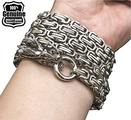 Phoenix outdoor full steel self defense hand bracelet chain (Color B) (Chain Weapons)