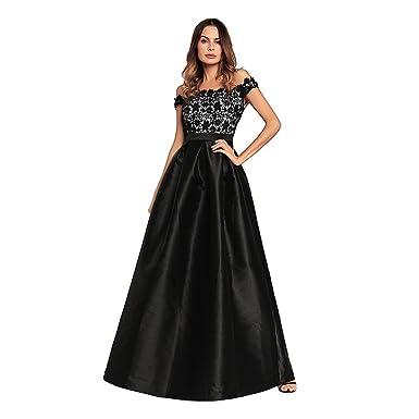 9b93eb35f428 Kleid der Frau Frau Kleid A Line Big Pendel Schwarz Splice Lace ...