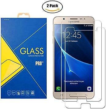 2 Pack] Protector Cristal Vidrio Templado Compatible Samsung ...