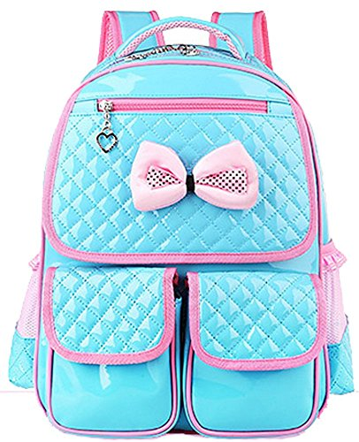 Cute Lace Bowknot  Leather Princess School Backpack