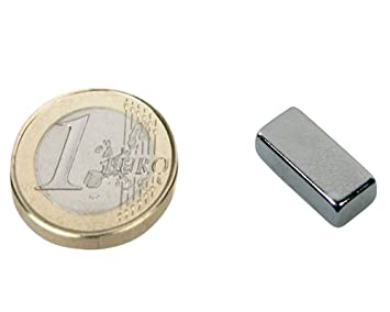 10 x Quadermagnet 1,8 kg Nickel Magnetquader   8 x   8 x  4mm Neodym N45