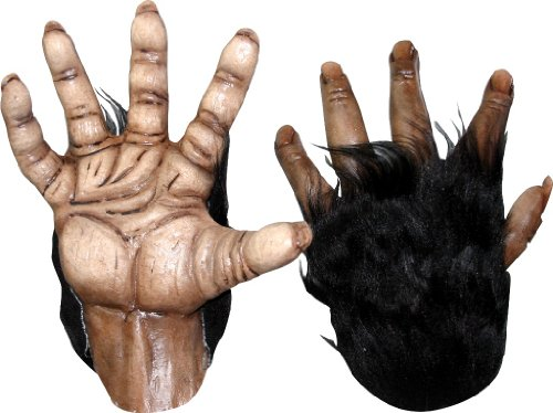 Brown Chimp Hands Costume Gloves]()