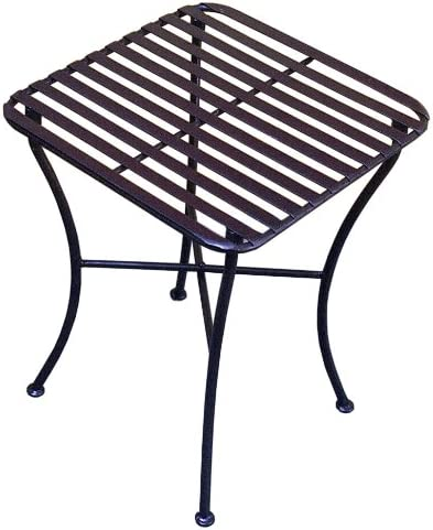 PTC Home Garden Park Square Side Table, Pewter