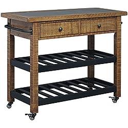 Marlijo Warm Brown Kitchen Cart
