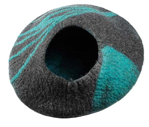 CAT BEDS Made from 100% NZ Merino Wool, Spun into Felt in Nepal. We Like to Call Them CAT Caves
