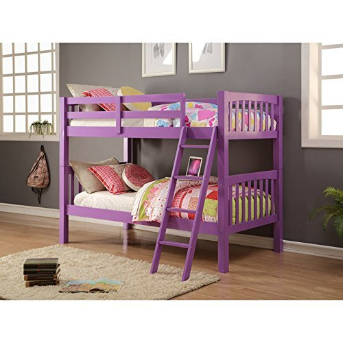 Donco Kids 2012Tfag Louver Bunk Bed, Twin/Full, Antique Gray (Captain Full Bed Youth)