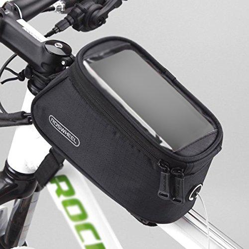 ROSWHEEL bike ehemalige Top-Rohrrahmen-Tasche 4.8 zoll(schwarz)