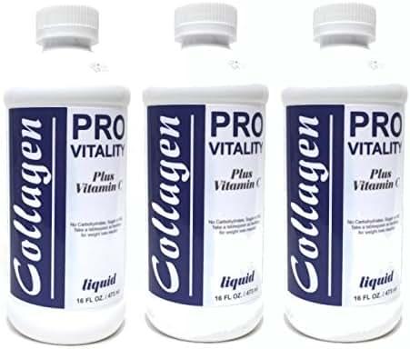 American Natural Liquid Collagen plus Vitamin C 3 PACK 16 Fl Oz Supplement