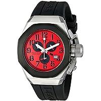 Swiss Legend Men's 10542-05-BB Trimix Diver Chronograph Red Dial Black Silicone Watch