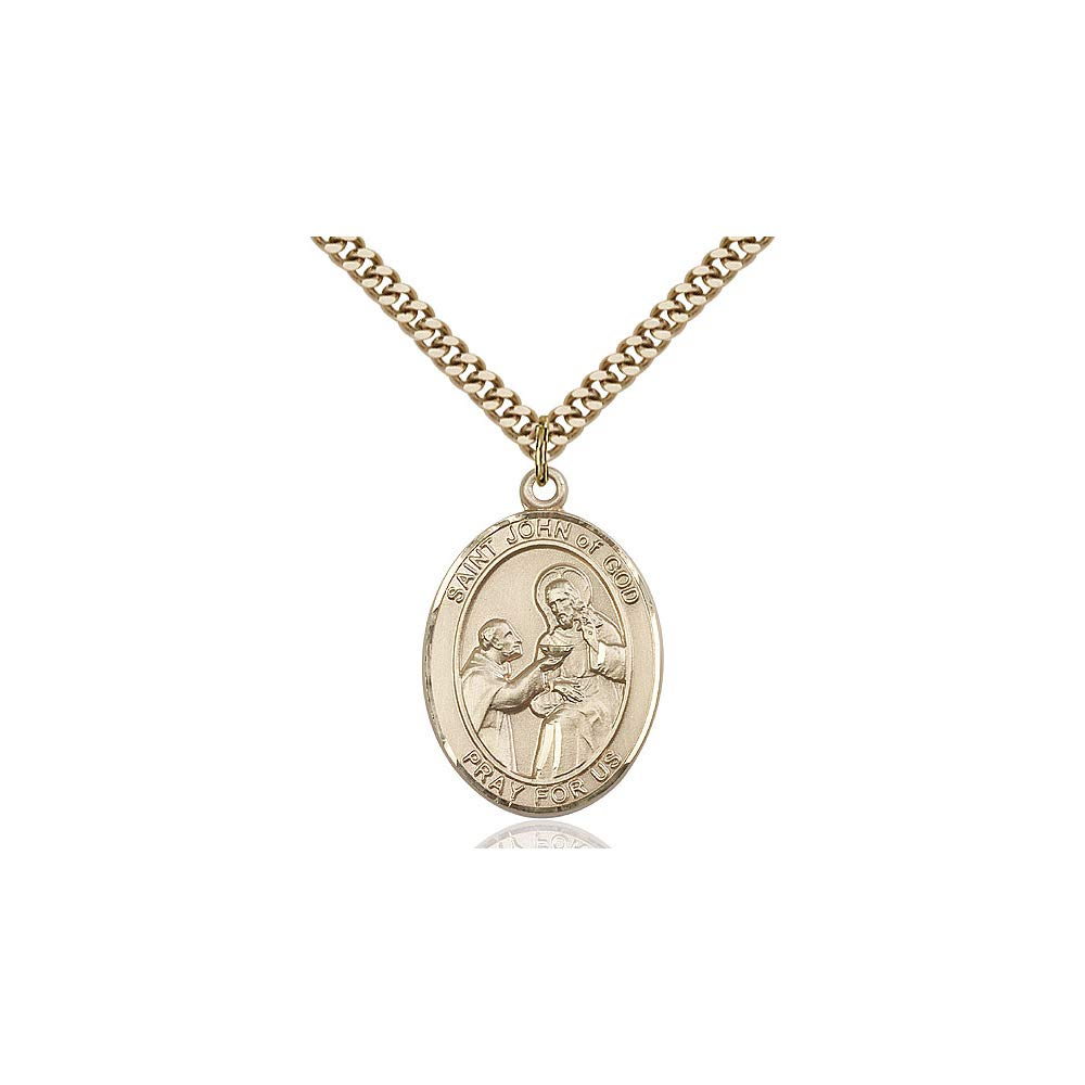DiamondJewelryNY 14kt Gold Filled St John of God Pendant