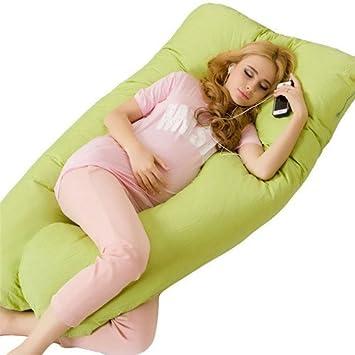 Almohada de Maternidad - MAXGOODS Almohadilla de Apoyo de Embarazo Cojin de Lactancia Soporte Suave de Cuerpo Tener Sueño Profundo y Cómodo para Usar ...