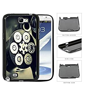 Black and Silver Gun Bullet Chamber with Bullets Loaded Hard Plastic Snap On Cell Phone Case Samsung Galaxy Note 2 II N7100 by icecream design