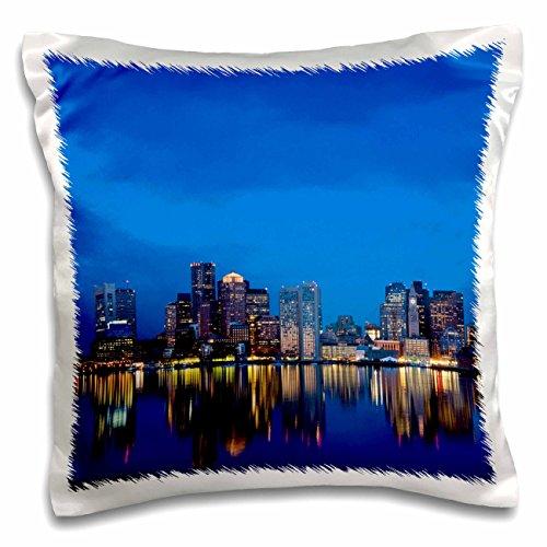 3dRose pc_91014_1 Ma, Boston. Financial District, Dawn-Us22 Wbi0568-Walter Bibikow-Pillow Case, 16 by - One Ma Square