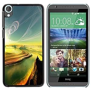 Be Good Phone Accessory // Dura Cáscara cubierta Protectora Caso Carcasa Funda de Protección para HTC Desire 820 // Painting Sunset Canyon River Grand