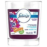Febreze Candle with Gain Scent, Moonlight Breeze, 4 Count