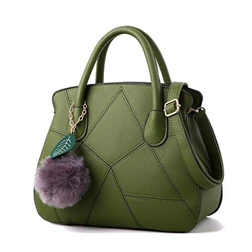 Bolso de Mensajero Femenino Coreano Bolso de Las Señoras Bolsa de Hombro de Moda Ejercito Verde