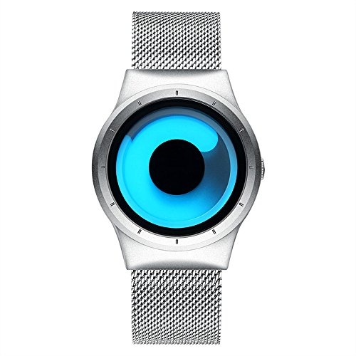 Fly Fashion Personality Creative Watch Men and Women Middle School Students Couple Steel Belt Table Watch (Color : Silver)