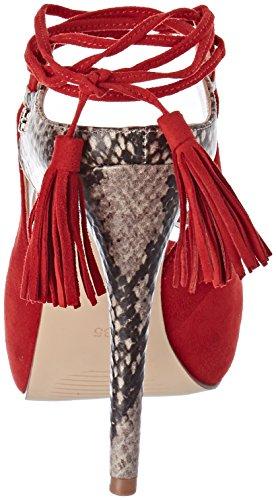 Femme Rouge Plateforme Red Escarpins Guess Medium Homera Red à vfntI1